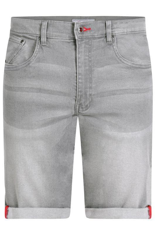 D555 Grey Stretch Denim Shorts