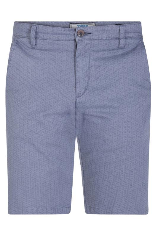 D555 Blue Patterned Chino Shorts