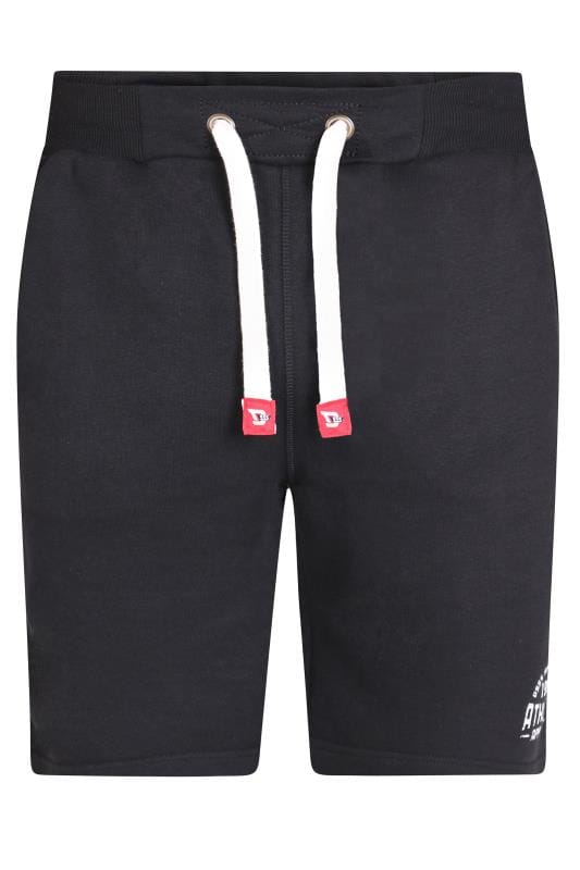 Plus Size Jogger Shorts D555 Black Fleece Shorts