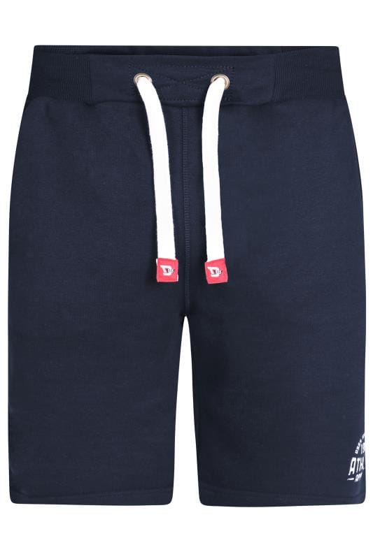Plus Size Jogger Shorts D555 Navy Jogger Shorts