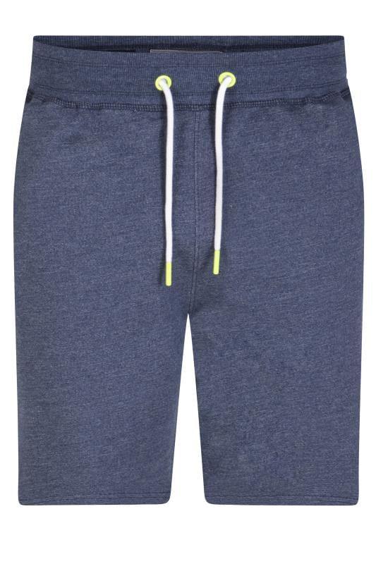 Plus Size Jogger Shorts D555 Blue Marl Jogger Shorts