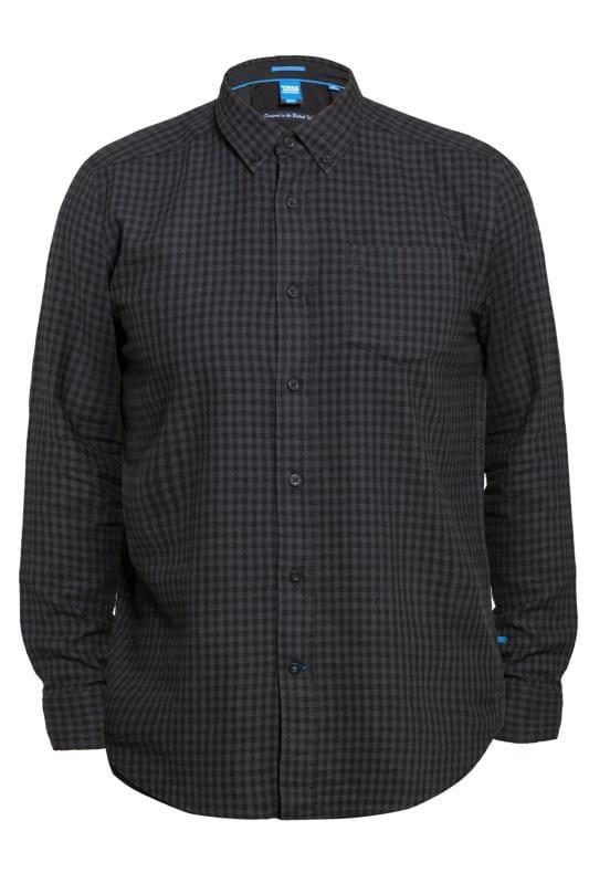 Casual Shirts Tallas Grandes D555 Grey Check Shirt