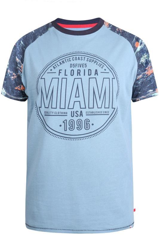 T-Shirts D555 Blue Miami Raglan T-Shirt 202539