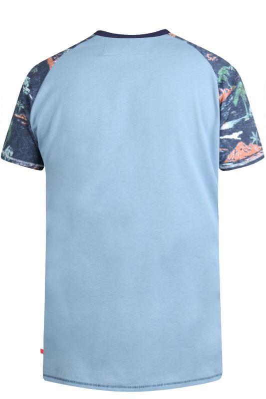 D555 Blue Miami Raglan T-Shirt