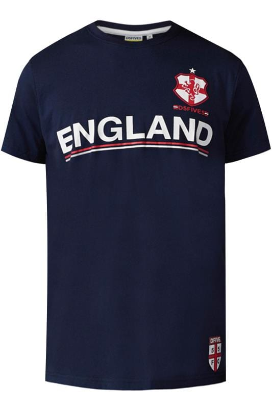 D555 Navy England Football T-Shirt