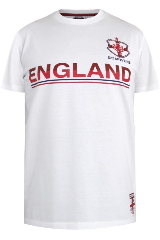 D555 Fußball-T-Shirt mit England-Motiv - Weiß