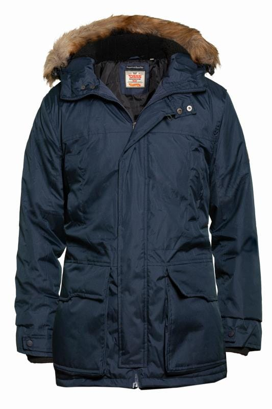 Coats D555 Navy Parka Jacket 201764
