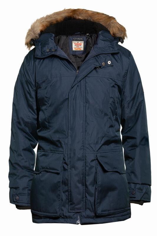D555 Navy Parka Jacket