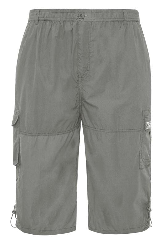 Cargo Shorts D555 Grey Leg Pocket Cargo Shorts 202440