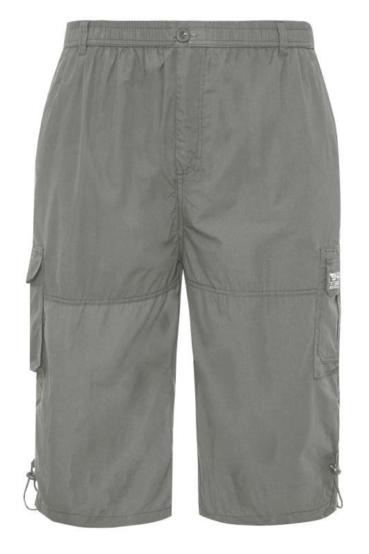 D555 Grey Leg Pocket Cargo Shorts
