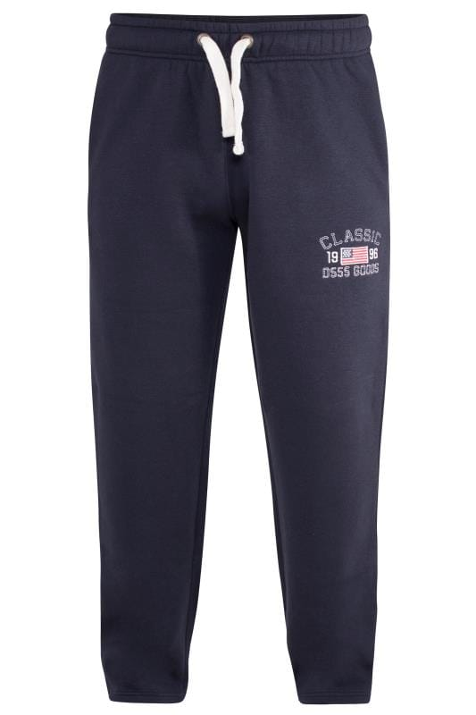 Plus Size Joggers D555 Navy Mayson Joggers
