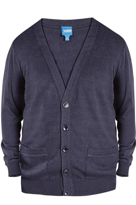 Cardigans D555 Navy Button Cardigan 201893