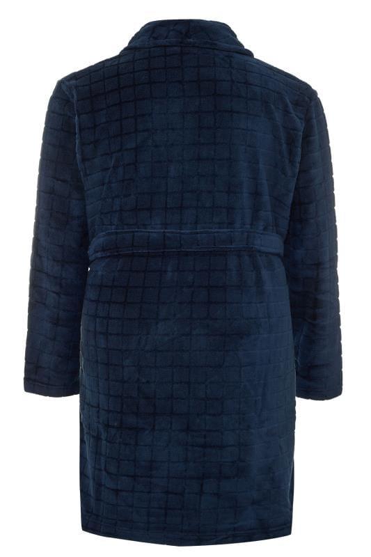 D555 Navy Fleece Dressing Gown