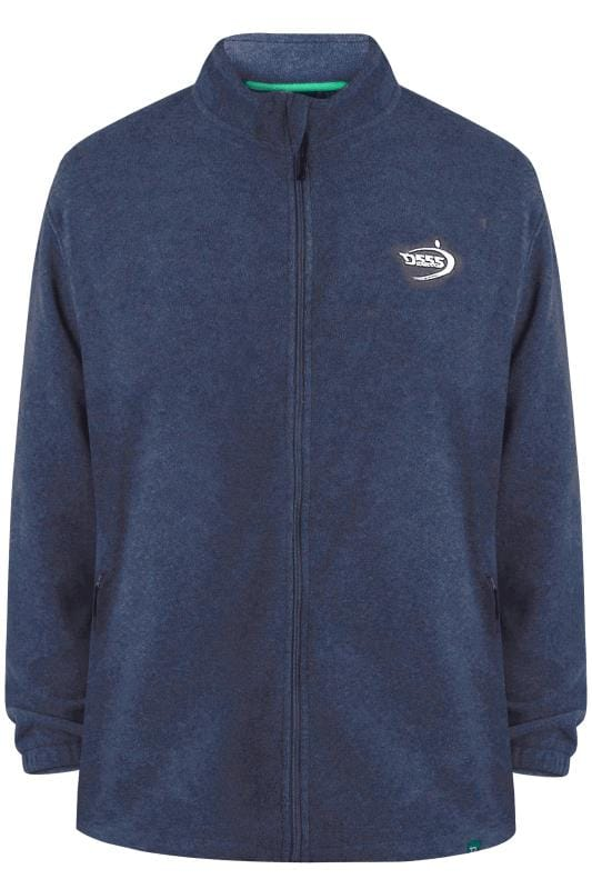 Plus Size Fleece D555 Navy Full Zip Anti Pill Fleece