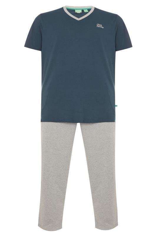 Pyjamas Grande Taille D555 Navy & Grey Pyjama Set