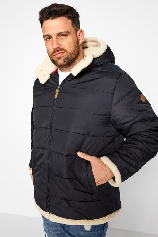 Coats Grande Taille D555 Navy Padded Coat