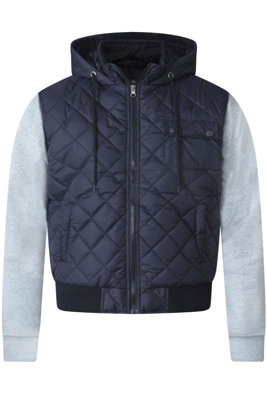 D555 Navy Quilted Jacket