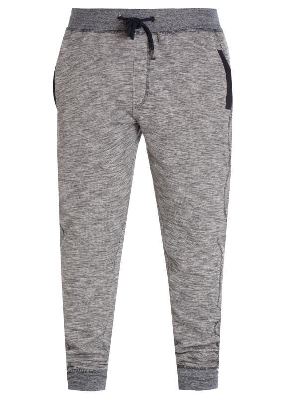 Большие размеры | Joggers D555 Grey Slub Jersey Joggers
