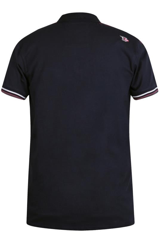 D555 Navy Taped Polo Shirt