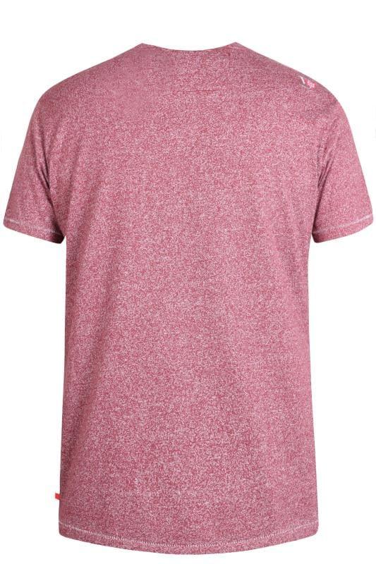 D555 Burgundy Marl 'San Francisco' T-Shirt