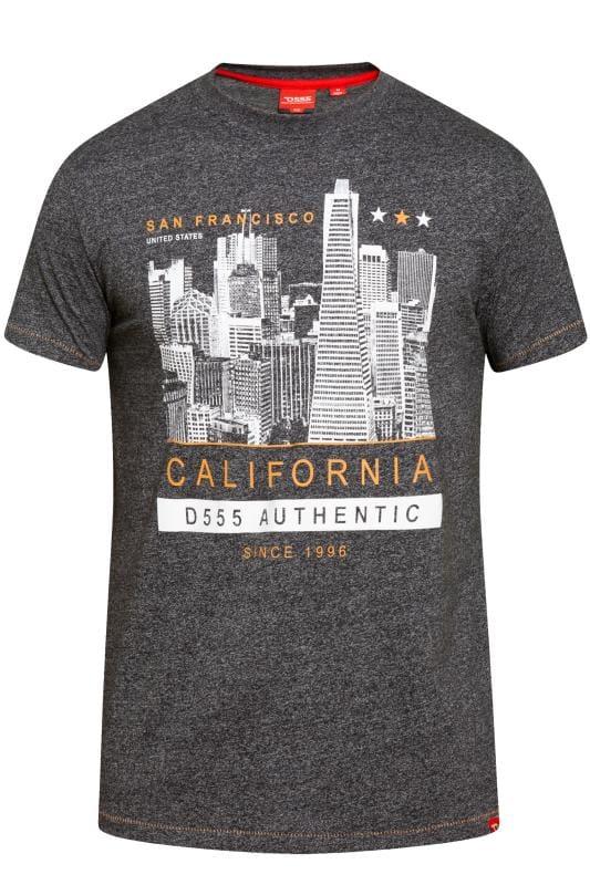 T-Shirts D555 Black Cali Print T-Shirt 201834