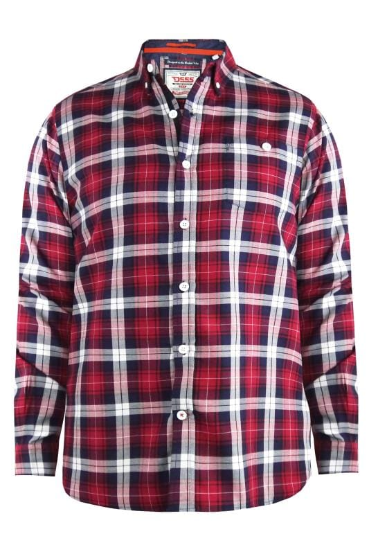 Casual Shirts D555 Red Check Shirt 201747
