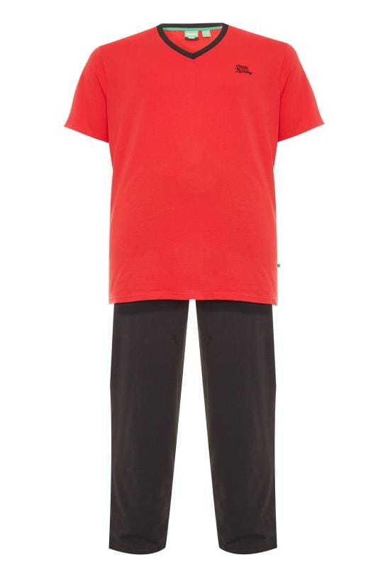 Nightwear D555 Red & Black Pyjama Set 201795