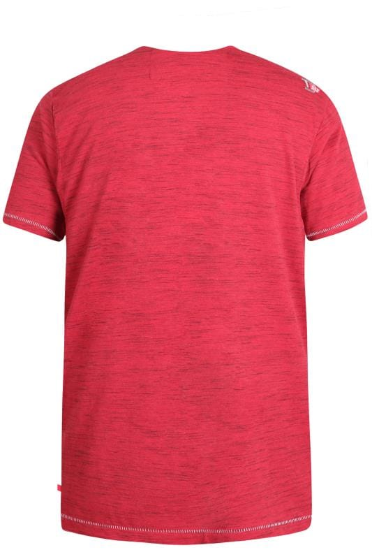 D555 Red Marl Los Angeles Slogan T-Shirt