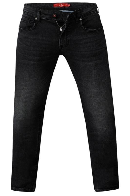 Slim Tapered D555 Grey Tapered Stretch Denim Jeans