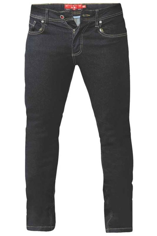 Men's Tapered D555 Indigo Blue Tapered Stretch Denim Jeans