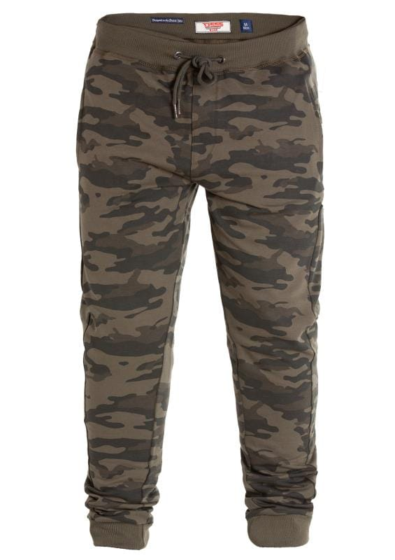 Plus Size Joggers D555 Green Camo Joggers
