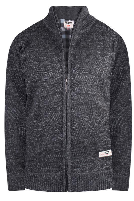 Plus Size Sweatshirts D555 Black Zip Through Sweatshirt