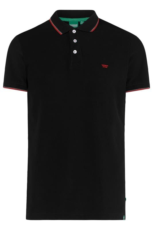 Polo Shirts Tallas Grandes D555 Black Tipped Polo Shirt