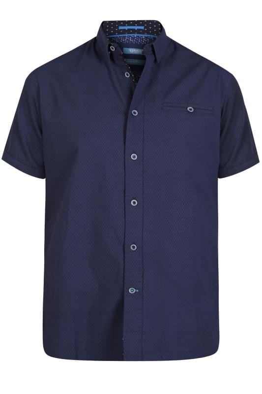 Casual Shirts D555 Navy Patterned Shirt 202432