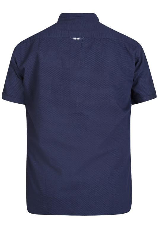 D555 Navy Patterned Shirt