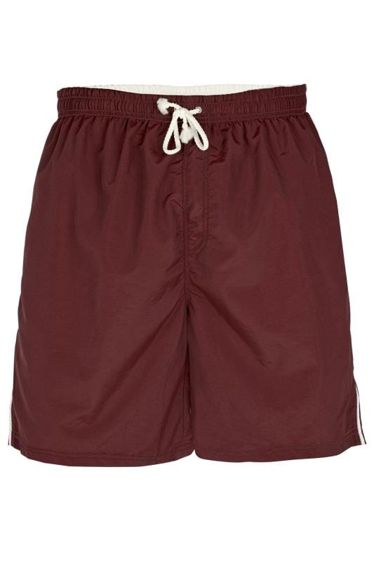 D555 Burgundy Swim Shorts
