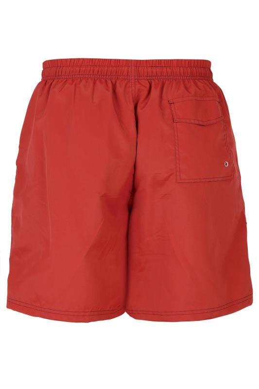 D555 Red Swim Shorts