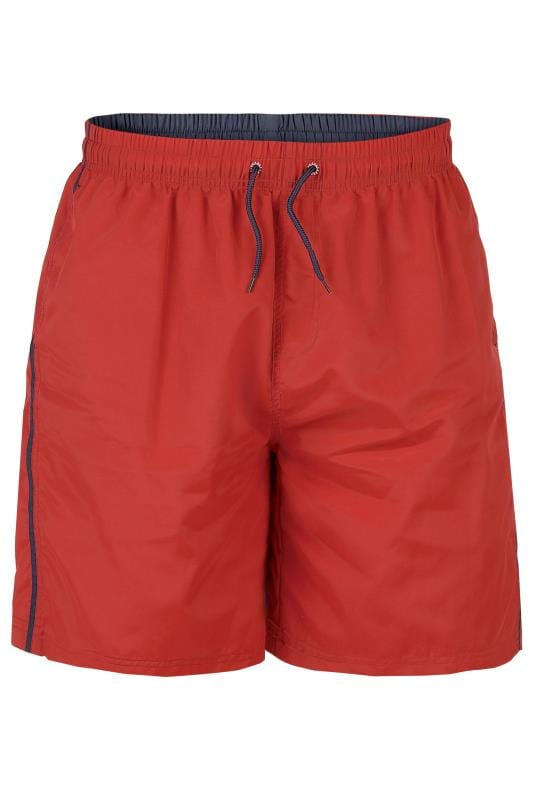 D555 Red Swim Shorts