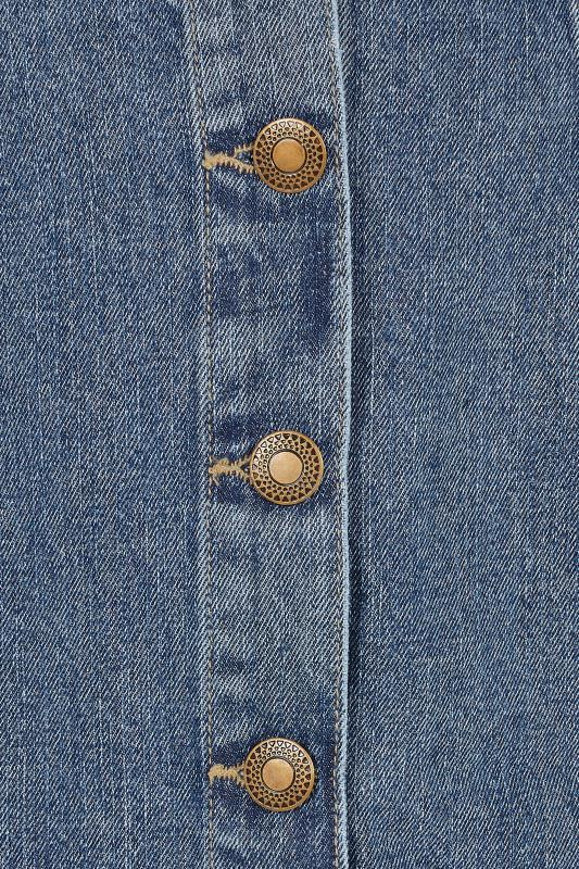 Blue Denim Button Through Skirt
