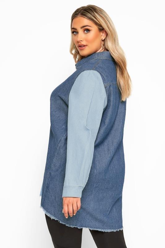 Blue Mixed Denim Shirt