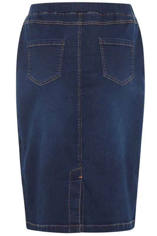 Blue Stretch JENNY Denim Skirt