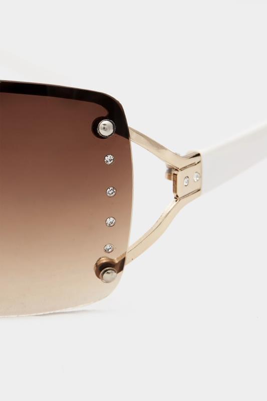 White Tinted Rimless Sunglasses