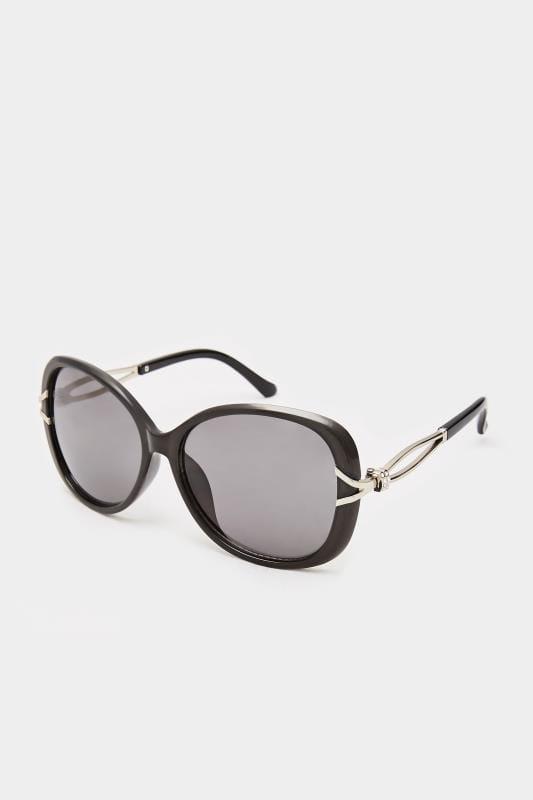 Sunglasses dla puszystych Black Oversized Knot Sunglasses