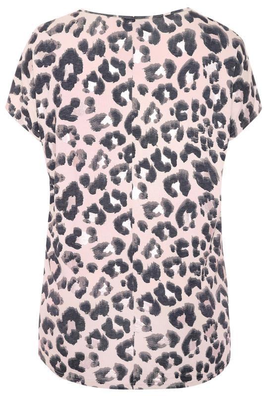 Pink Foil Animal Print Top