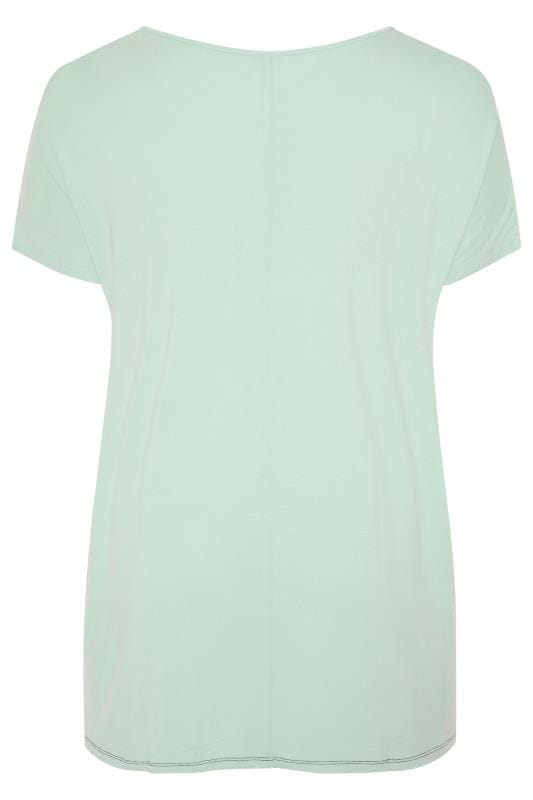 Mint Green Colour Block Top