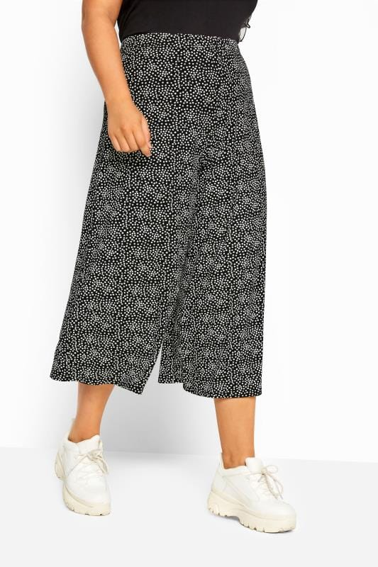 LIMITED COLLECTION Black Ditsy Floral Culottes
