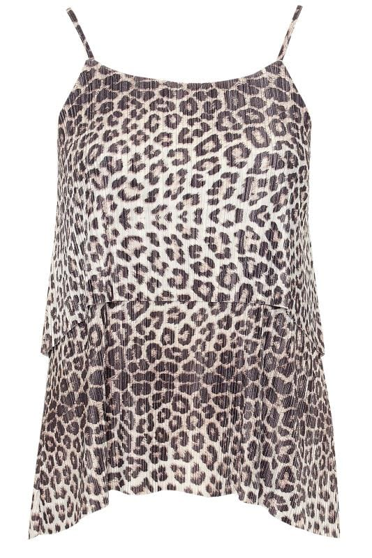 LIMITED COLLECTION Brown Animal Print Plisse Top