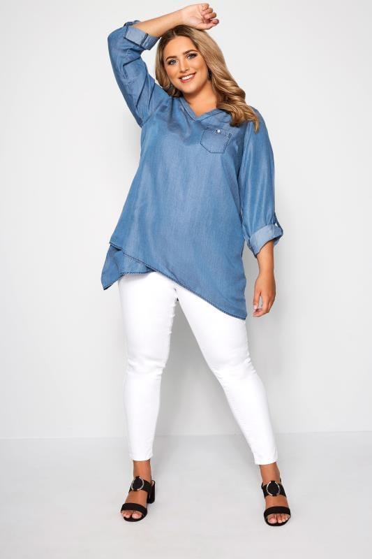 Blue Denim Double Layered Shirt