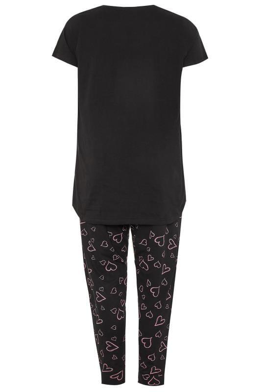 Black Dream Slogan Pyjama Set