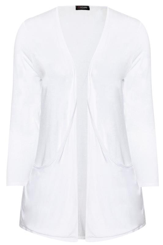 White Drop Pocket Cardigan